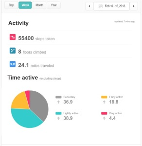 ex fitbit week stats activity