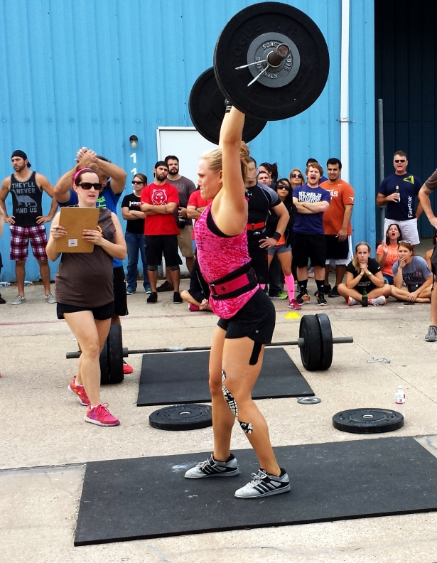 I do believe she PR'd during this WOD. It was fantastic to see such triumph.
