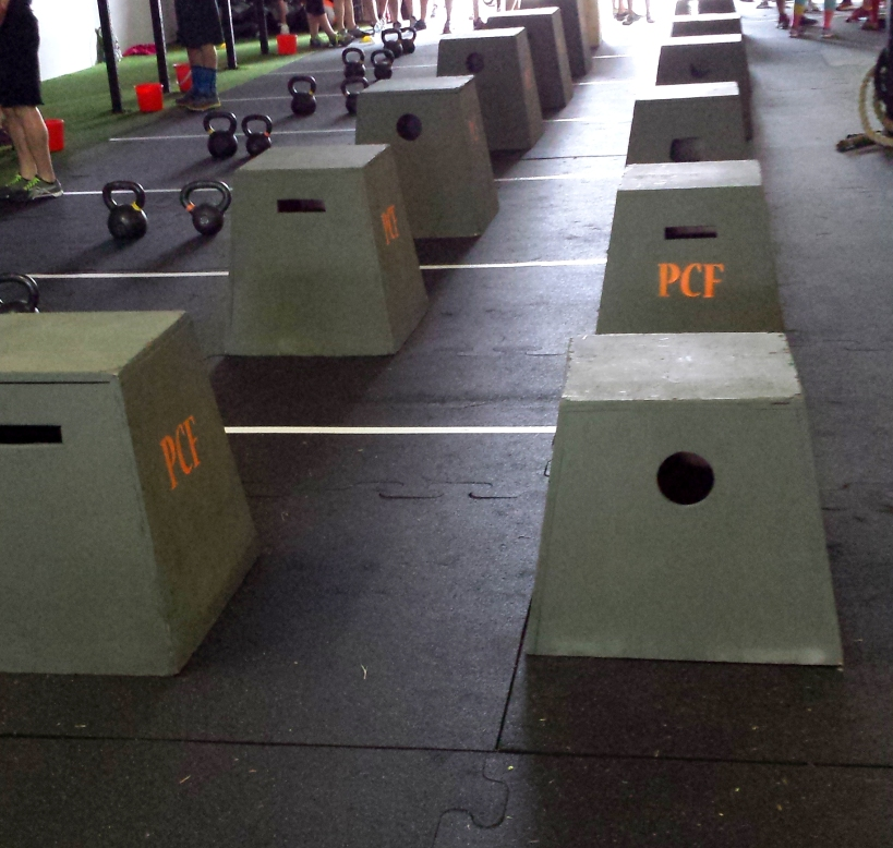 Box jumps, also part of the deadlift WOD. All KILLER.